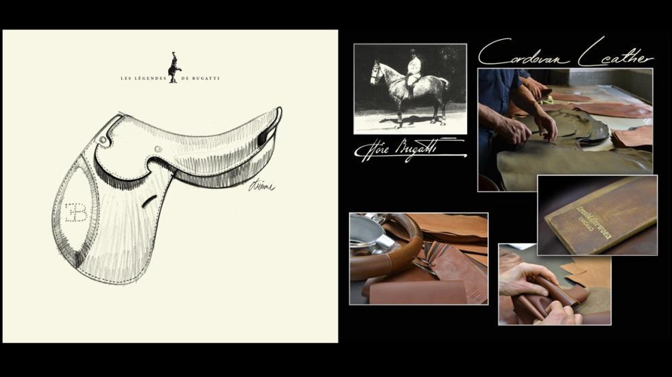 Piel de ternero cordobesa para la edición Ettore Bugatti