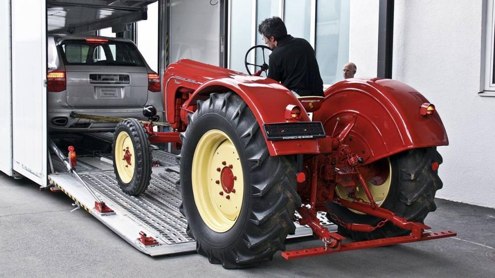 Porsche tractor y prototipo del Cayenne Hybrid