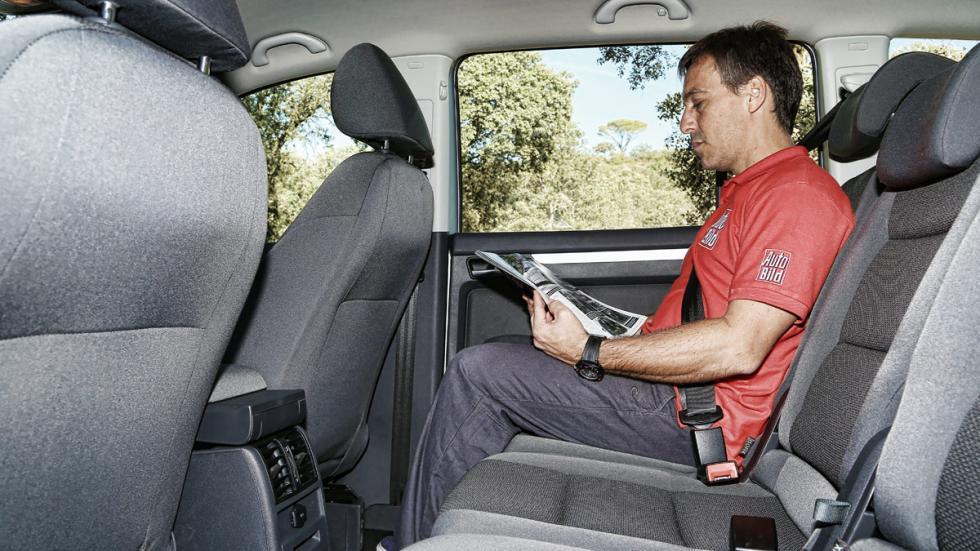Prueba Volkswagen Touran 1.2 TSI Edition segunda fila