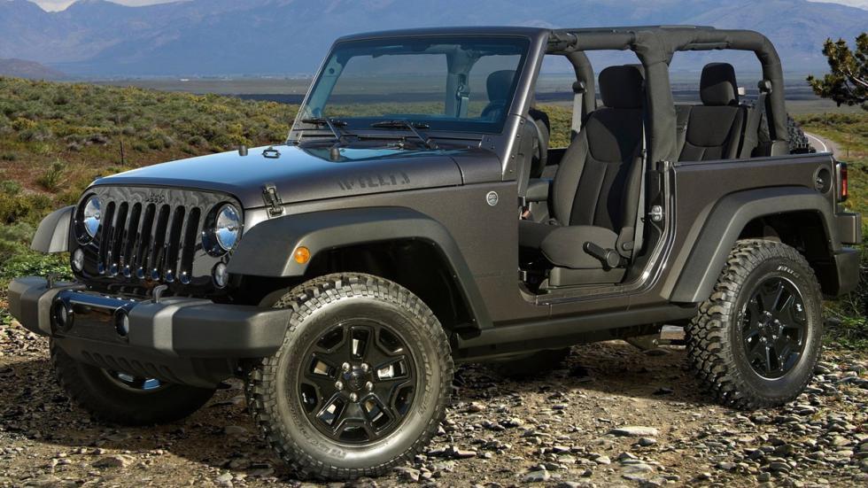 cinco todoterrenos radicales Jeep Wrangler detalle