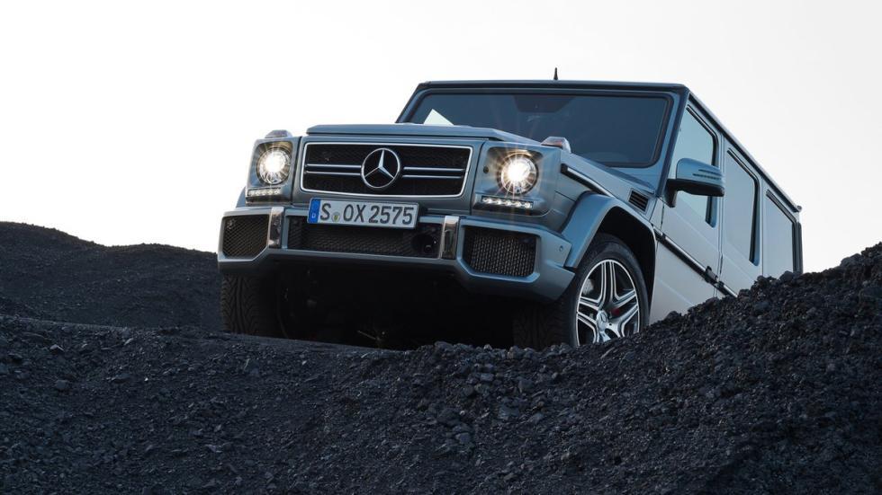 cinco todoterrenos radicales Mercedes Clase G delantera