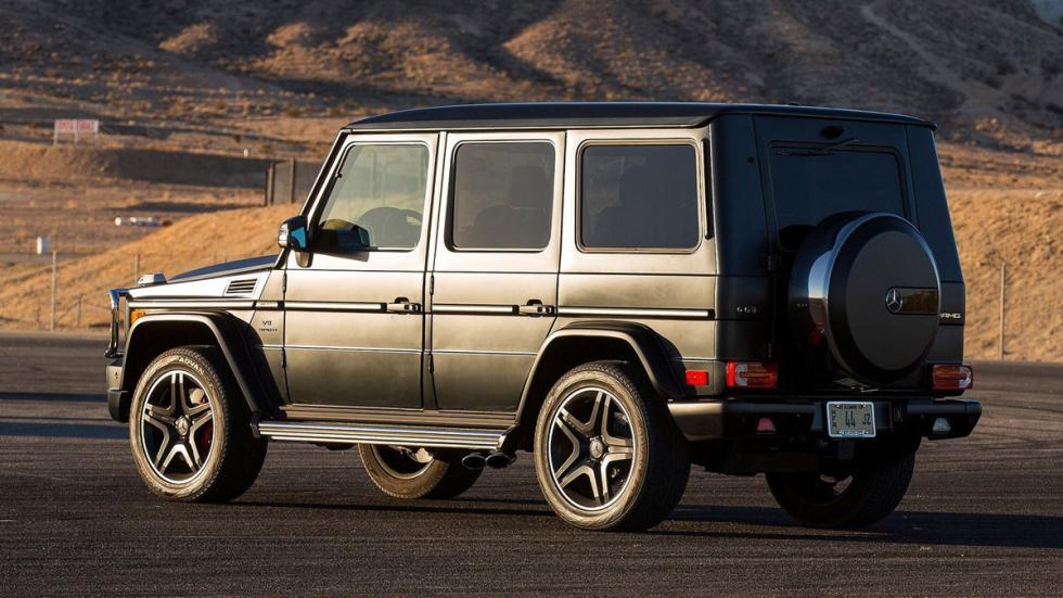 cinco todoterrenos radicales Mercedes Clase G trasera