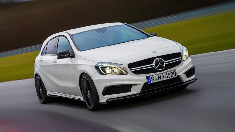 Cinco coches sorprenderan conduces Mercedes A45 AMG