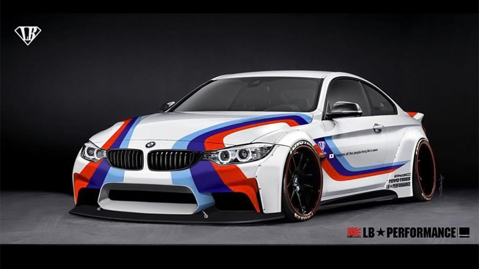 BMW Serie 4 de LB Performance, blanco