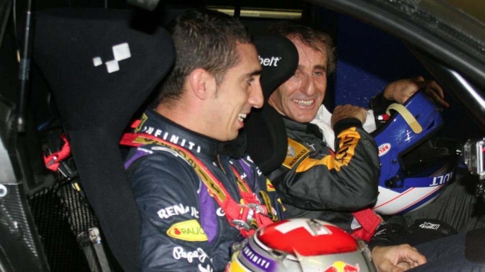 Buemi y Prost con el Renault RS 01 en el Circuito de Jerez