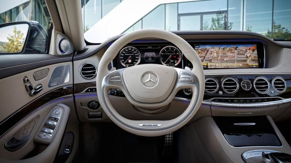 cinco berlinas produccion mas potentes Mercedes S65 AMG interior