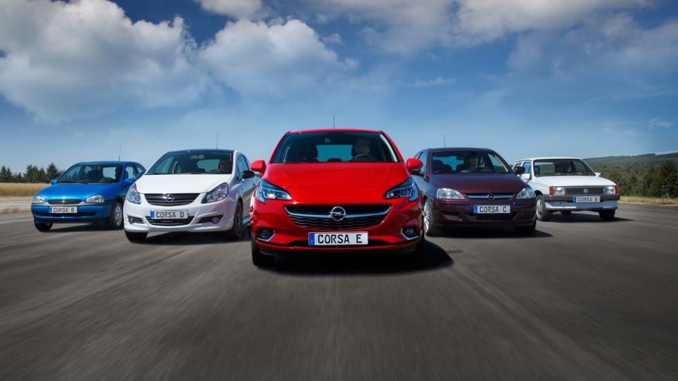 Opel Corsa 2014 generaciones