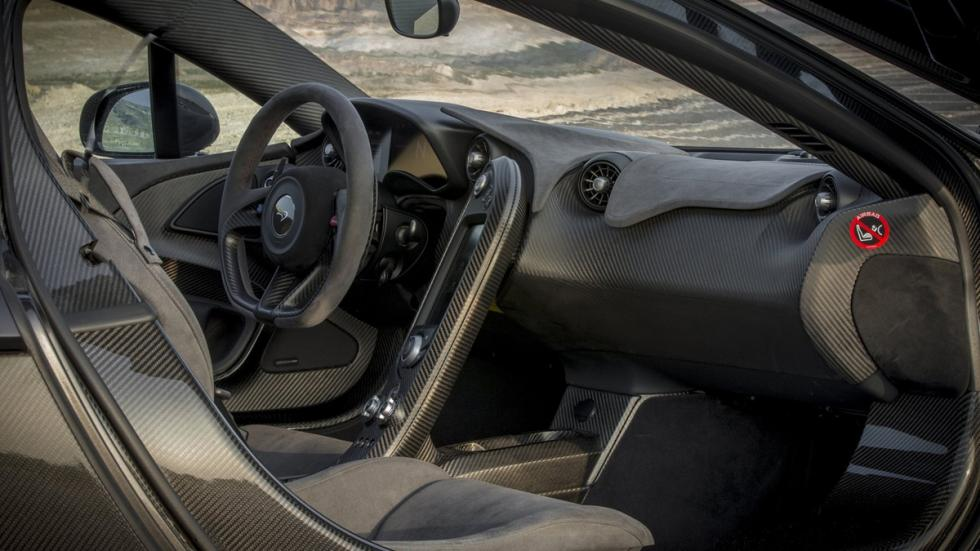 cinco hibridos mas rapidos McLaren P1 interior