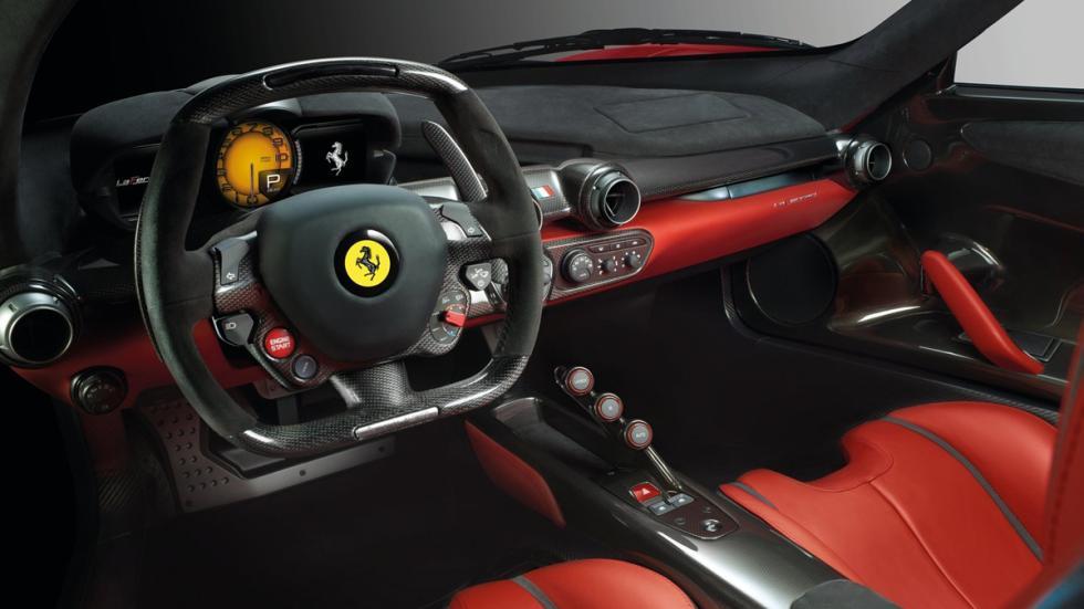 cinco hibridos mas rapidos Ferrari LaFerrari interior