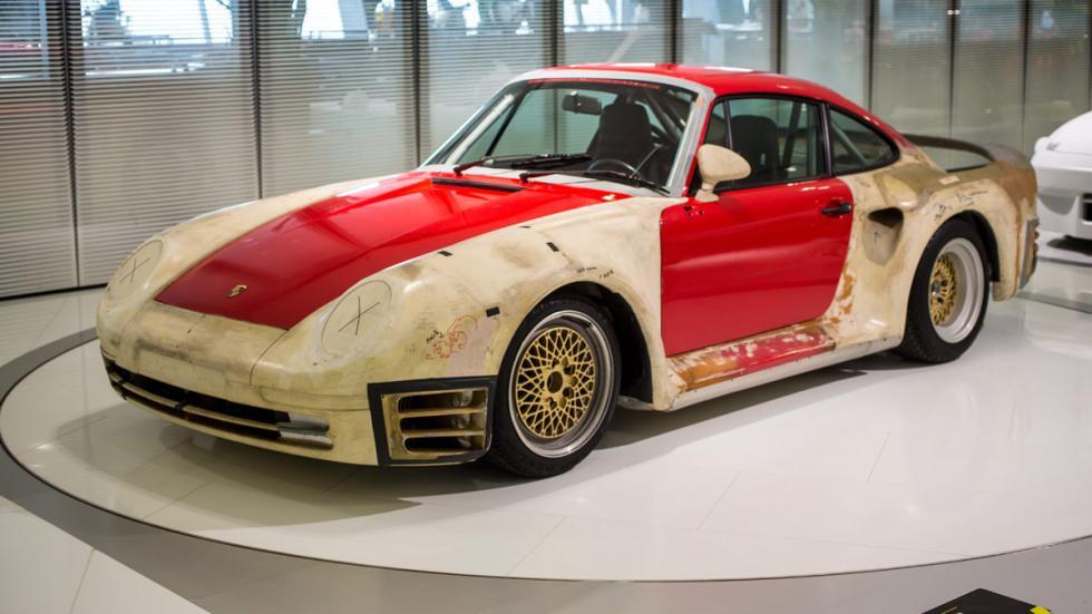 Porsche 959 Prototipo Aerodinámico lateral