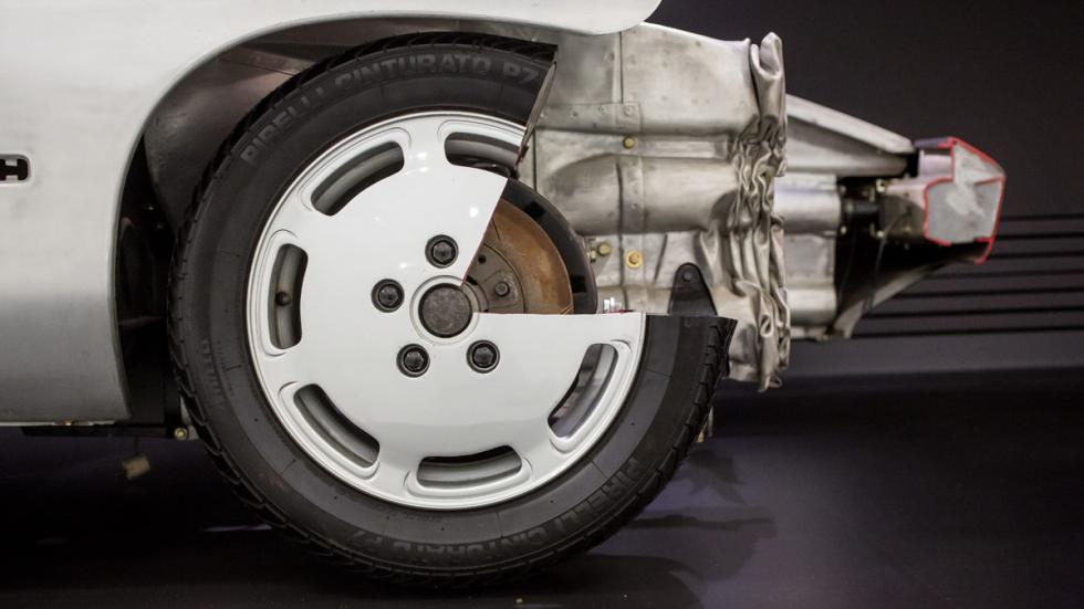 Porsche Prototipo P.E.S Tipo 960 deformación programada de los largueros