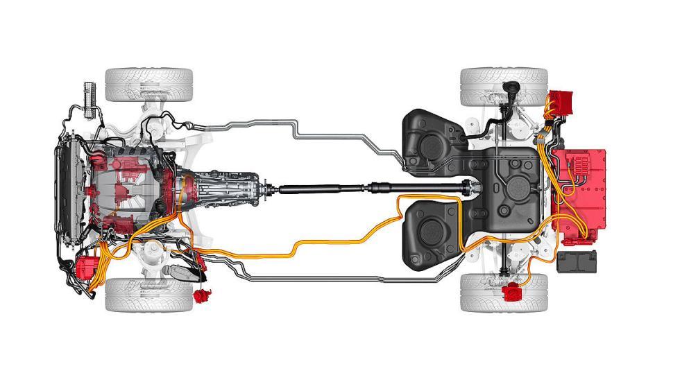 Porsche Cayenne Plug-in Hybrid diagrama
