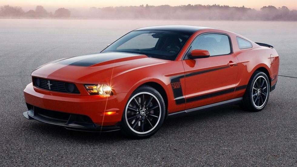 Cinco mejores muscle cars Ford Mustang Boss 302 frontal