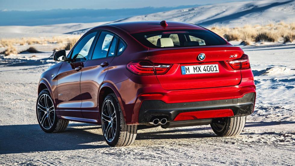 cinco coches alemanes no fabrican Alemania BMW X4 trasera