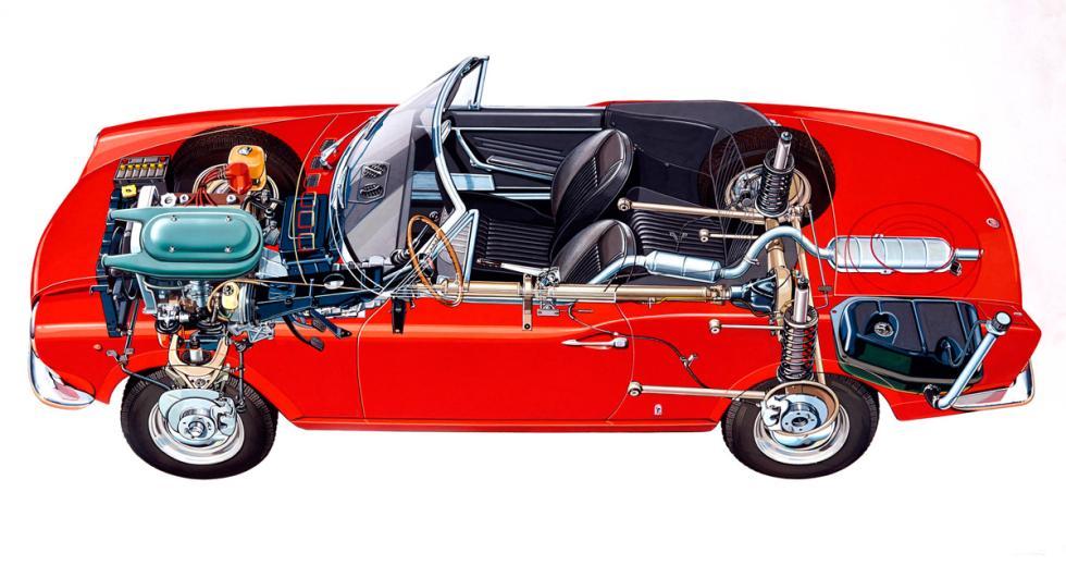 Fiat 124 Spider chasis