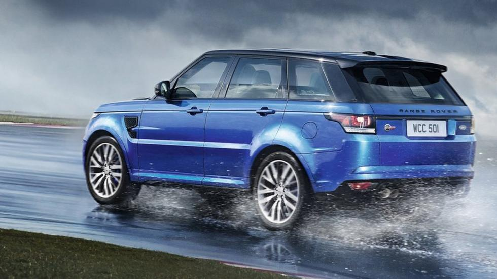 Mayores rivales nuevo BMW X5 M Range Rover Sport SVR lateral