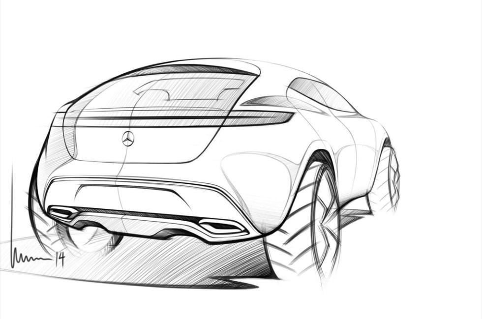 Mercedes-Benz G Code concept boceto