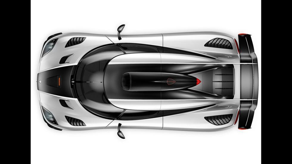 Koenigsegg Agera One:1 - cenital