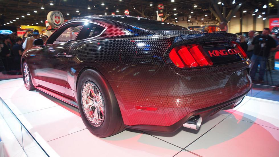 coches bestias sema 2014 Ford Mustang King Cobra trasera