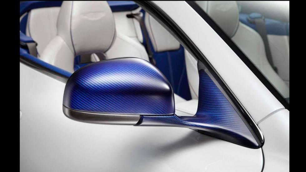 Aston Martin DB9 Volante Morning Frost - retrovisor