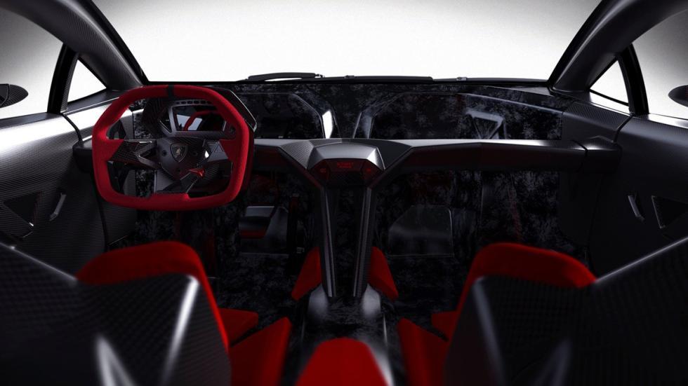 Cinco Lamborghini extremos Lamborghini Sesto Elemento interior