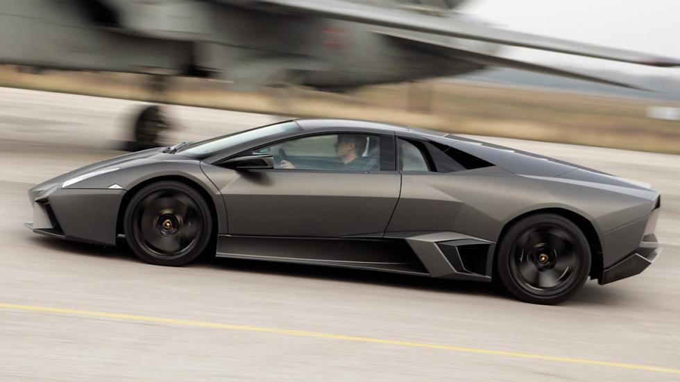 Cinco Lamborghini extremos Lamborghini Reventón lateral