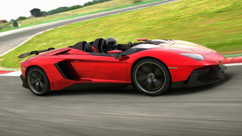 Cinco Lamborghini extremos Lamborghini Aventador J Roadster lateral