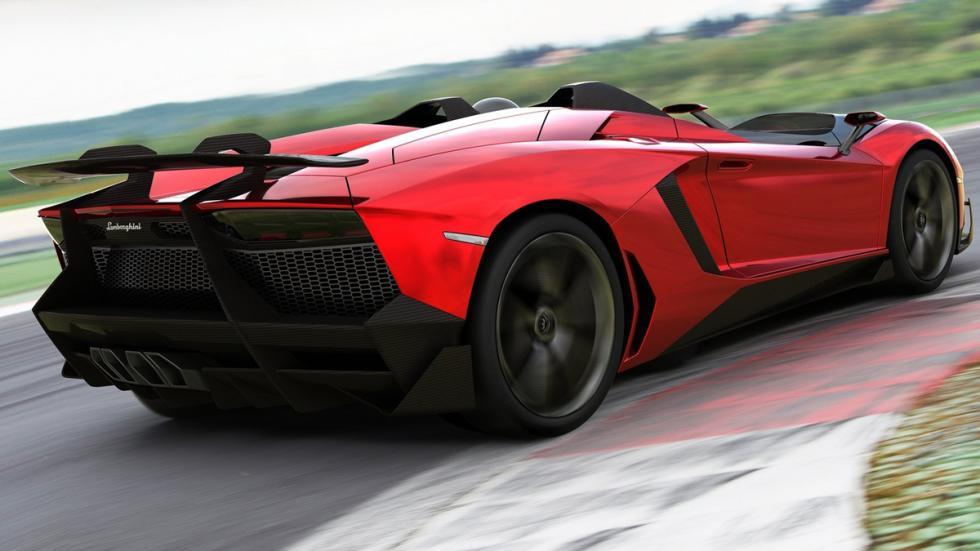 Cinco Lamborghini extremos Lamborghini Aventador J Roadster zaga