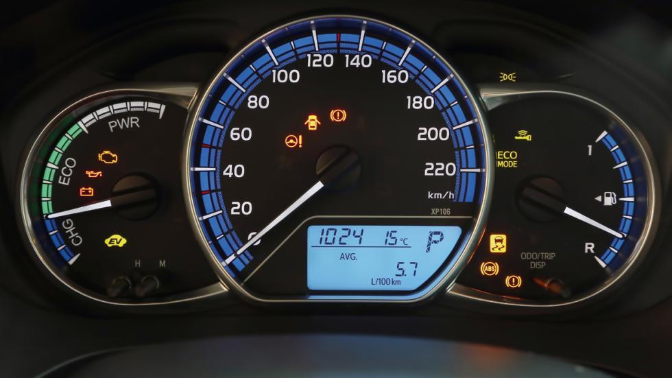 Cuadro de instrumetos del Toyota Yaris HSD