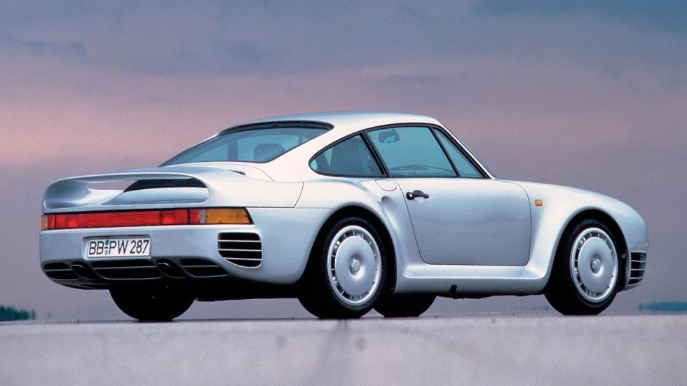Porsche 959 trasera