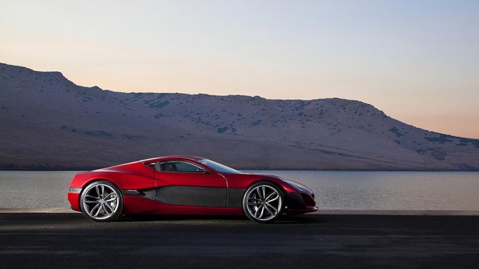 Cinco coches eléctricos extremos Rimac Concept_One perfil