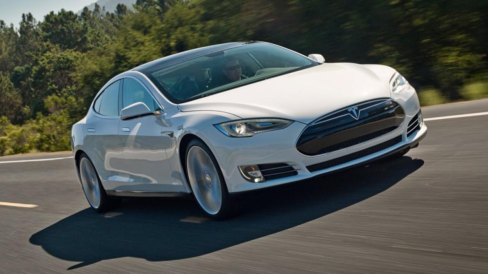 Cinco coches eléctricos extremos Tesla Model S P85D morro
