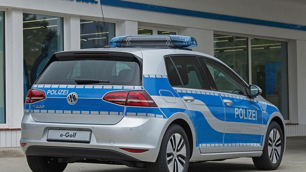 Golf-e Policía alemana coche eléctrico