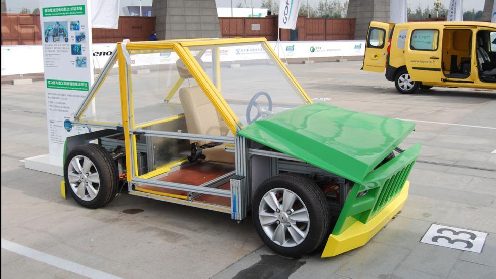 coche modular eléctrico chino michelin challenge bibendum