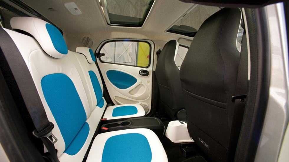 smart forfour asientos traseros