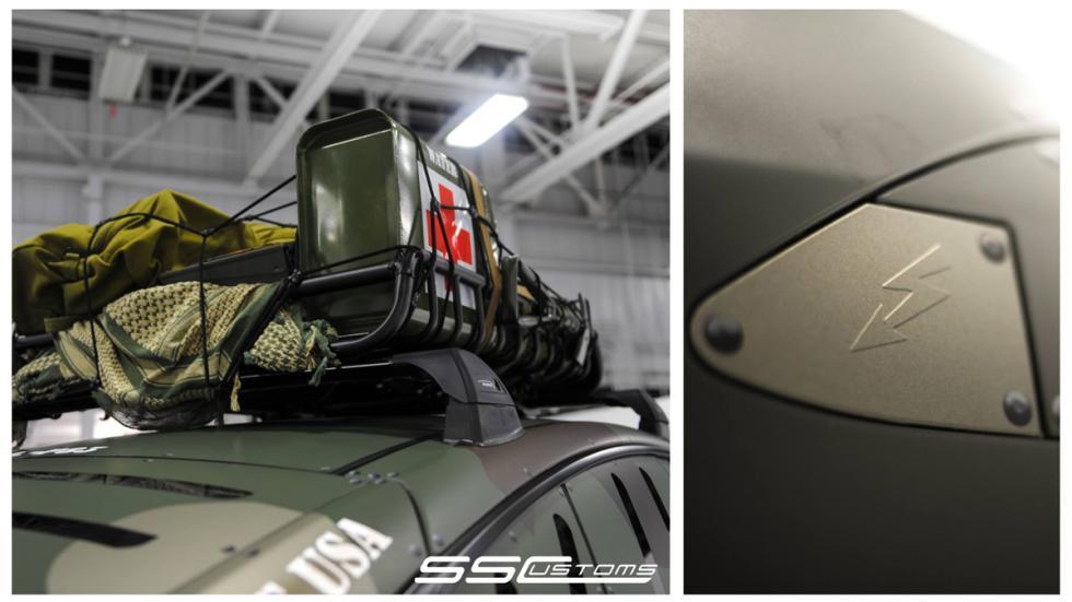 Tesla Model S camuflaje - baca