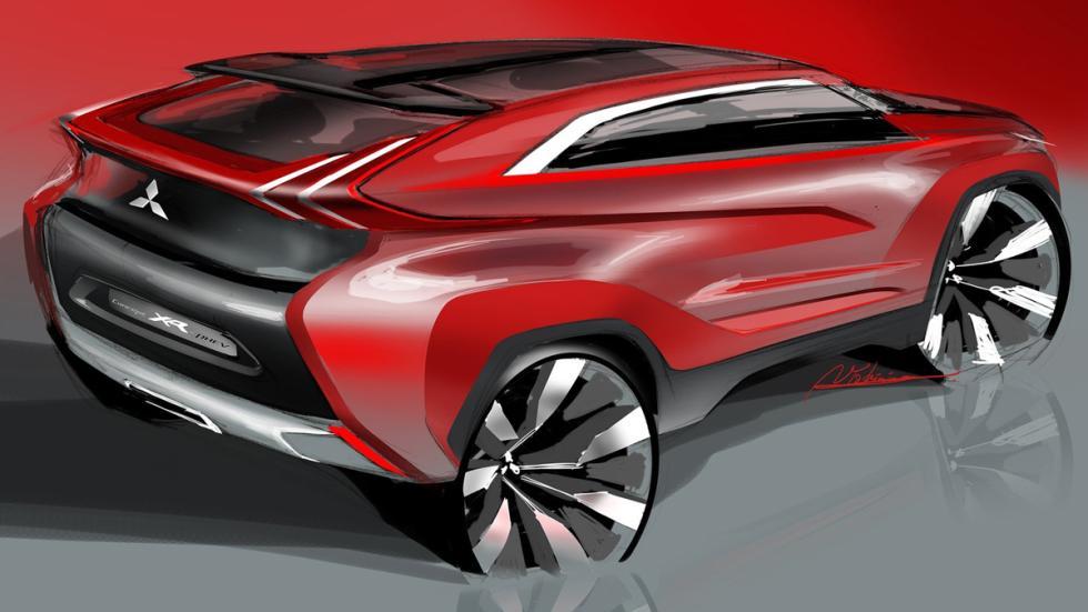 Mitsubishi XR-PHEV Concept - boceto trasera