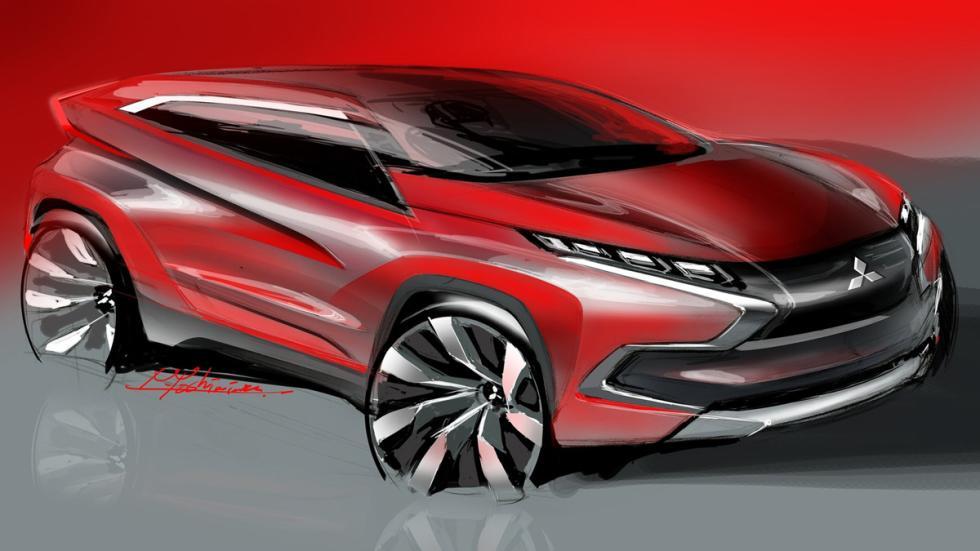 Mitsubishi XR-PHEV Concept - boceto frontal