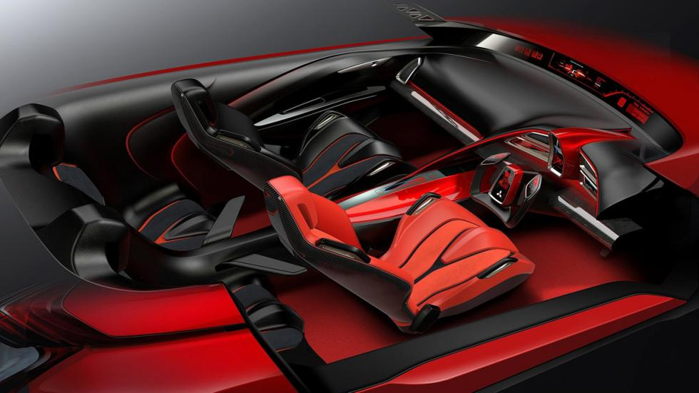 Mitsubishi XR-PHEV Concept - boceto interior