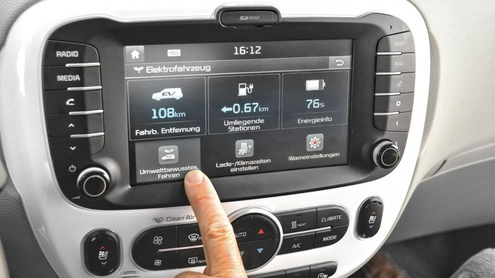 Kia Soul EV climatizador