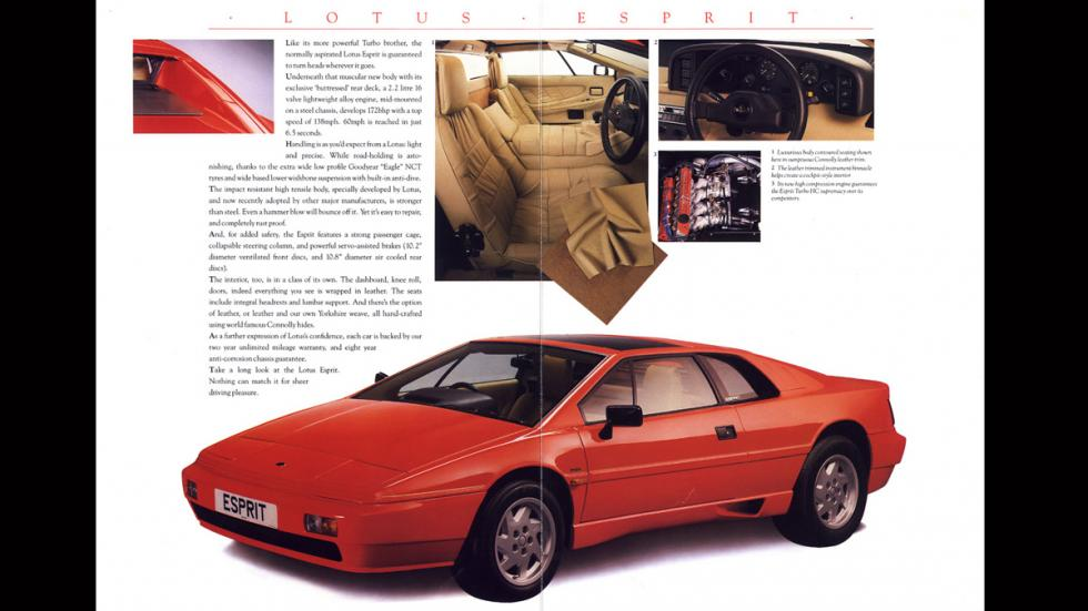 Lotus Esprit - catálogo