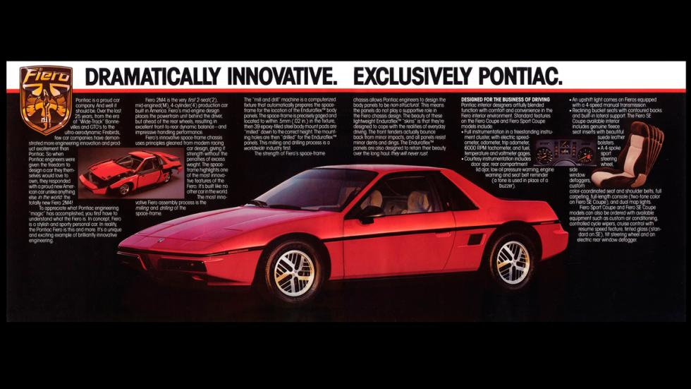 Pontiac Fiero - catálogo