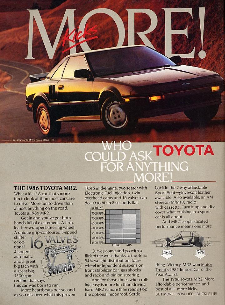 Toyota MR2 - catálogo