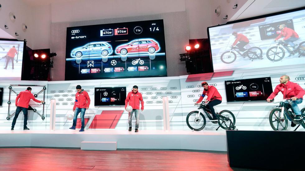 Jugadores del Barcelona en el  Audi etron Challengue
