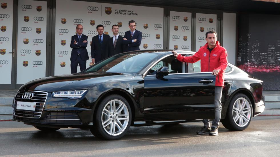 Xavi recibe su Audi A7