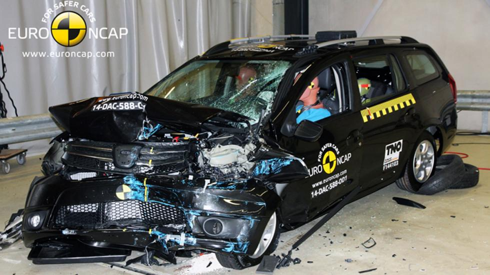 Dacia Logan MCV crash test' Euro NCAP
