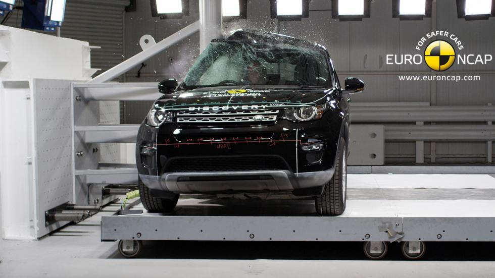El Land Rover Discovery Sport 'crash test' Euro NCAP