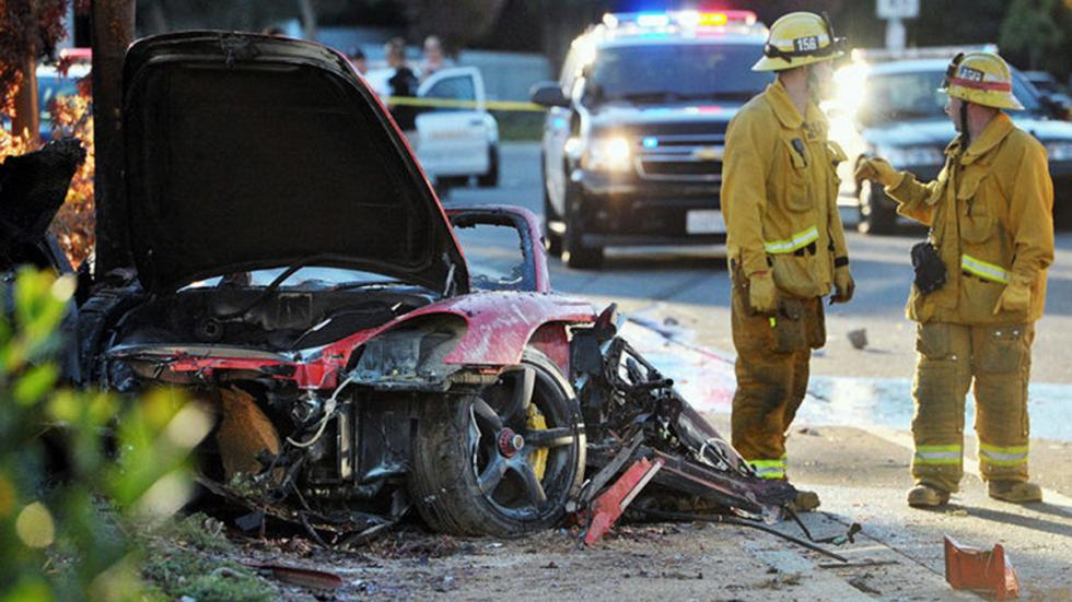 Porsche Carrera GT accidente Paul Walker