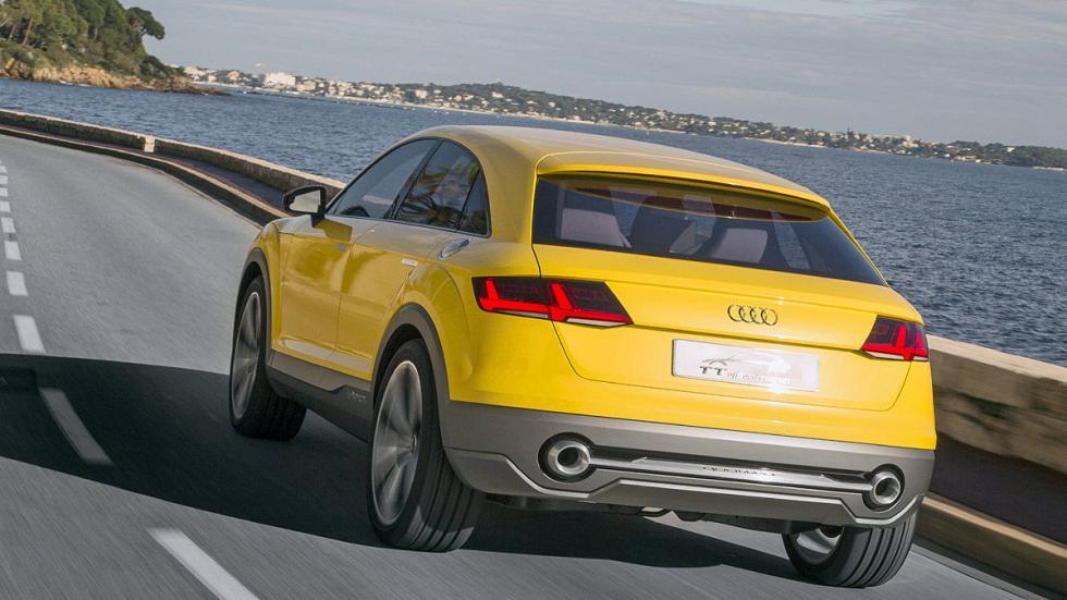 Audi TT Offroad tres cuartos detalle dinámico