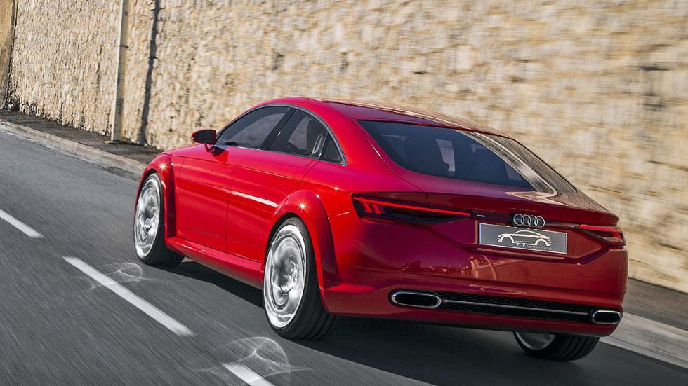 Audi TT Sportback lateral y zaga dinámico